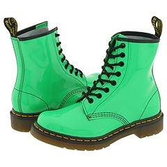 Dr. Martens - 1460 W (Green Patent) Boots