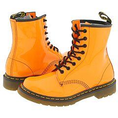Dr. Martens - 1460 W (Orange Patent) Boots