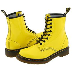 Dr. Martens 1460 W - Series (Yellow Patent) - Boots