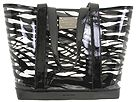 MICHAEL Michael Kors - Malibu Large East/West Tote (Clear/Black (001)) - Bags and Luggage