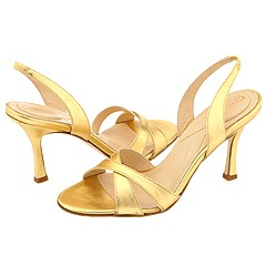 Christin Michaels Kathryn (Gold Calf) - Evening/Special Occasion Dress Sandals from zappos.com