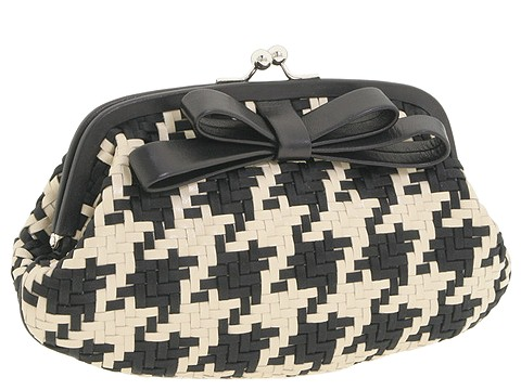 Moschino Pouchette Clutch Black/Ivory - Bags and Luggage