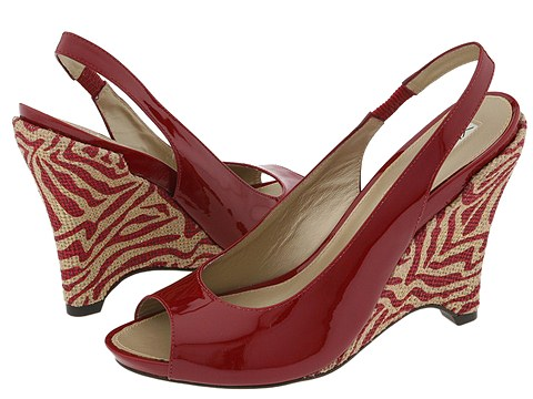 Via Spiga - Taunt (Red Patent/Zebra) - Footwear
