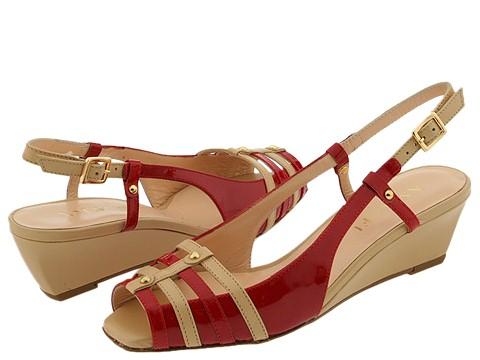 Amalfi by Rangoni - Nicca (Red Patent w/ Cuoio Tuscan Calf) - Footwear