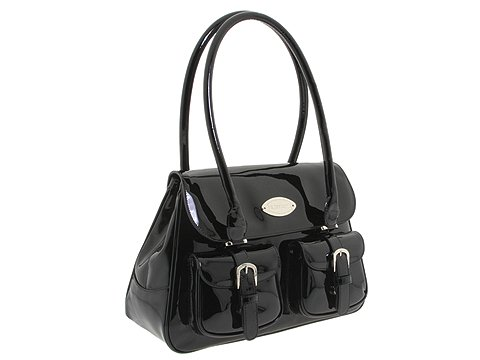 A. Testoni - BD03210 (Black Patent) - Bags and Luggage