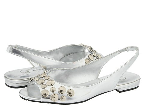 6628 594768 p - silver n gold flats