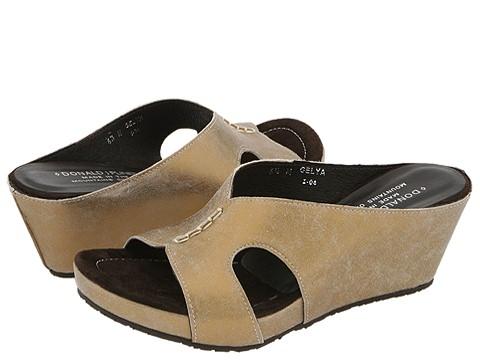 Donald J Pliner - Gelya (Bronze Distress Metallic Suede) - Footwear
