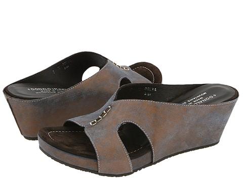 Donald J Pliner - Gelya (Rust Distressed Metallic Suede) - Footwear