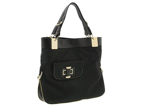 Cesare Paciotti - Large Shoulder Bag-2063T (Black) - Bags and Luggage