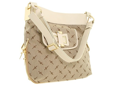 Cesare Paciotti - Medium Shoulder Bag-2064T (Beige) - Bags and Luggage