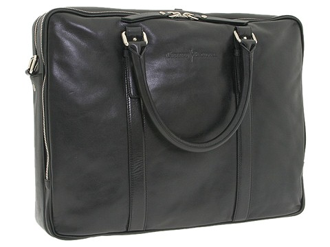 Cesare Paciotti - Briefcase Bag-1994 (Black Calf) - Bags and Luggage