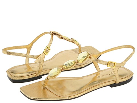 3279 604830 p - silver n gold flats