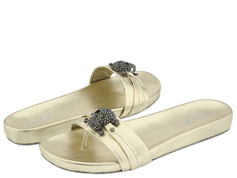 8521 605282 p - silver n gold flats