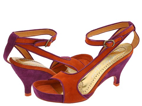 Irregular Choice Saucy Vixen (Purple/Rust Kid Suede) - Women's from zappos.com