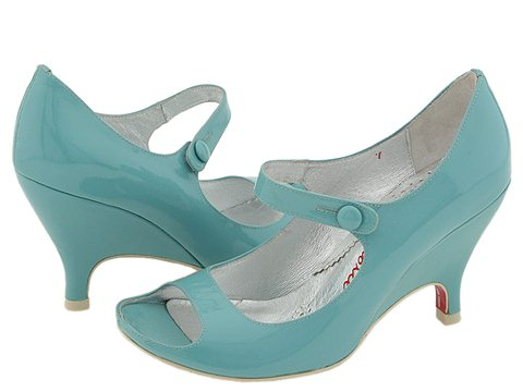 Irregular Choice Mermaid (Blue Patent) - Women's :  blue wedges zappos mary janes