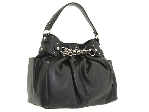 Donald J Pliner - Victoria Drawstring (Black) - Bags and Luggage