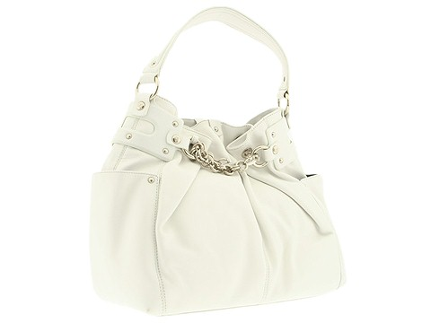 Donald J Pliner - Victoria Drawstring (White) - Bags and Luggage