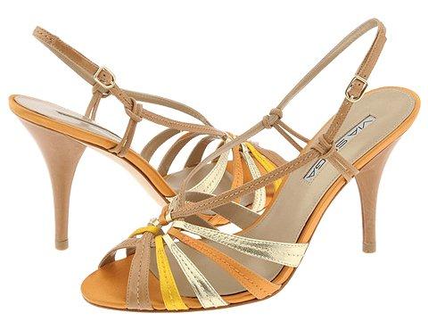 Via Spiga - Hazel (Camel Calf/Orange Satin) - Footwear