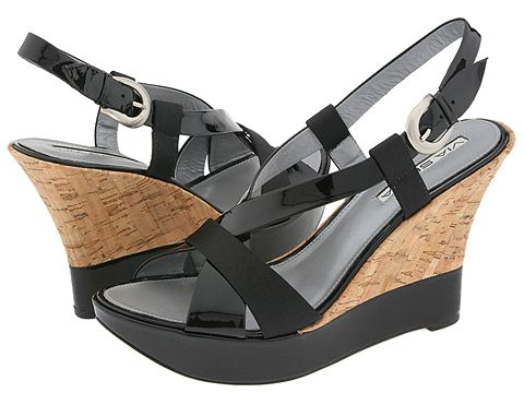 Via Spiga - Zevas (Black Patent/Satin) - Footwear
