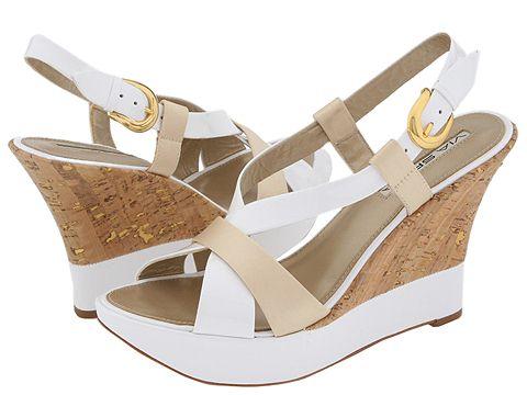Via Spiga - Zevas (Ivory Patent/Satin) - Footwear
