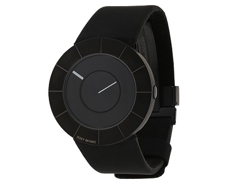 Issey Miyake - To (Calf Black Leather Band/Grey Stainless Steel Case/Grey Dial) - Jewelry