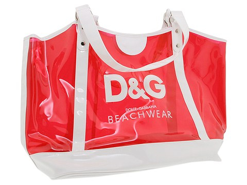 D&G Dolce & Gabbana Beach Tote Bag Cherry - Bags and Luggage