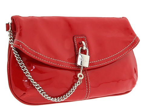 99be313904 D G Dolce   Gabbana Karen Patent Leather Clutch Red - Bags and Luggage