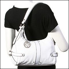 Franco Sarto - Duet Top Zip (White) - Bags and Luggage