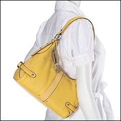 Franco Sarto - Duet Top Zip (Banana) - Bags and Luggage