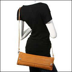 Franco Sarto - Diva East/West Clutch (Caramel) - Bags and Luggage