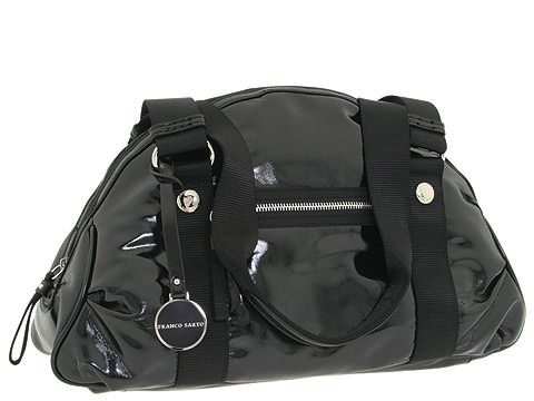 Franco Sarto - Block Party Large Dome Satchel (Black) - Bags and Luggage