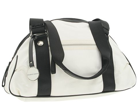 Franco Sarto - Block Party Large Dome Satchel (White) - Bags and Luggage