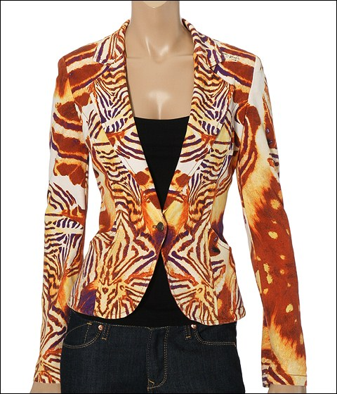 Just Cavalli Butterfly Print Jacket Butterfly Print - Apparel