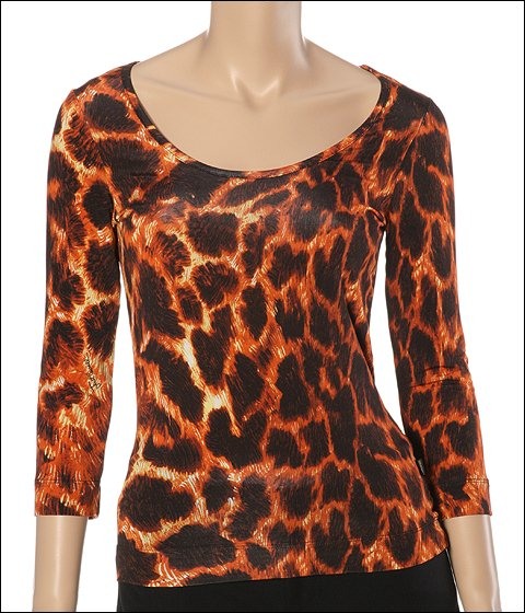 Just Cavalli T-shirt Jaguar Print - Apparel
