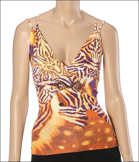 Just Cavalli Top Butterfly Print - Apparel