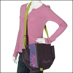 Haiku by Sharon Eisenhauer - To- Go Bag Calligraphy (Amethyst Purple) - Bags and Luggage