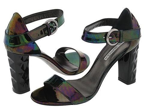 Via Spiga - Zory (Black Specchio Petrol) - Footwear