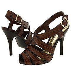 BCBGirls Famous (Coffeee Shiny Croco) - Dress Sandals