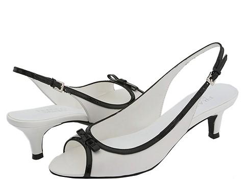 Franco Sarto - Slinky (White/Black Capra) - Footwear