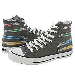 Converse Chuck Taylor® All Star® Multiple Zippers Hi (Grey/Multi) - Women's from zappos.com