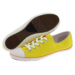 Converse All Star® Light Ox (Buttercup/Neon Red) - Women's from zappos.com