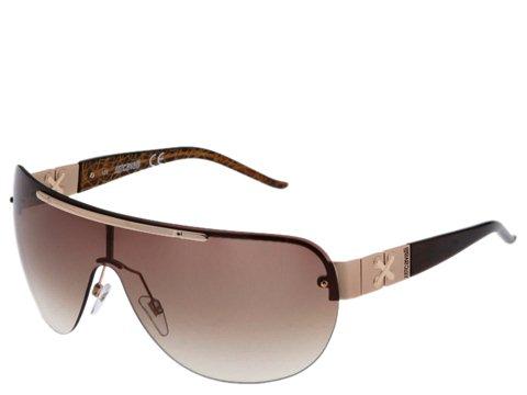 Just Cavalli JC139S Rose Gold/Dark Brown Gold Graffiti Temple Tip/Brown Lens - Eyewear