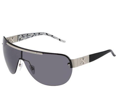 Just Cavalli JC139S Rhodium/Black White Logomania Temple Tip/Smoke Lens - Eyewear