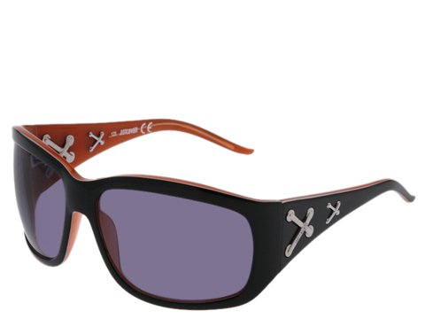 Just Cavalli JC140S Black/White/Peach/Shiny Ruthenium Crosses/Smoke Lens - Eyewear