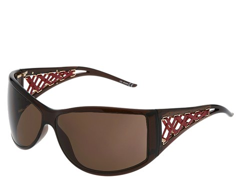 Just Cavalli JC142S Dark Brown/Red Leather/Brown Lens - Eyewear