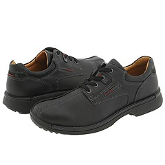 ECCO - Fusion Bicycle Toe Tie (Black Leather) - Footwear