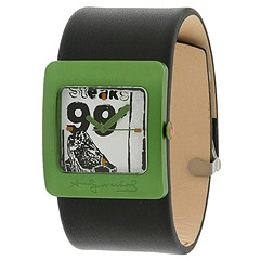 Andy Warhol 15 Watch Collection - Pop Collection 3 (Green/Black Leather Strap) - Jewelry