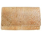 Carlos Falchi Handbags - Brushed Metallic Anaconda Box Clutch (Copper) - Bags and Luggage