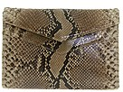 Carlos Falchi Handbags - Shiny Bombe Snake Shoulder Bag (Taupe) - Bags and Luggage