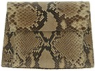 Carlos Falchi Handbags - Small Trapezoid Clutch (Taupe) - Bags and Luggage
